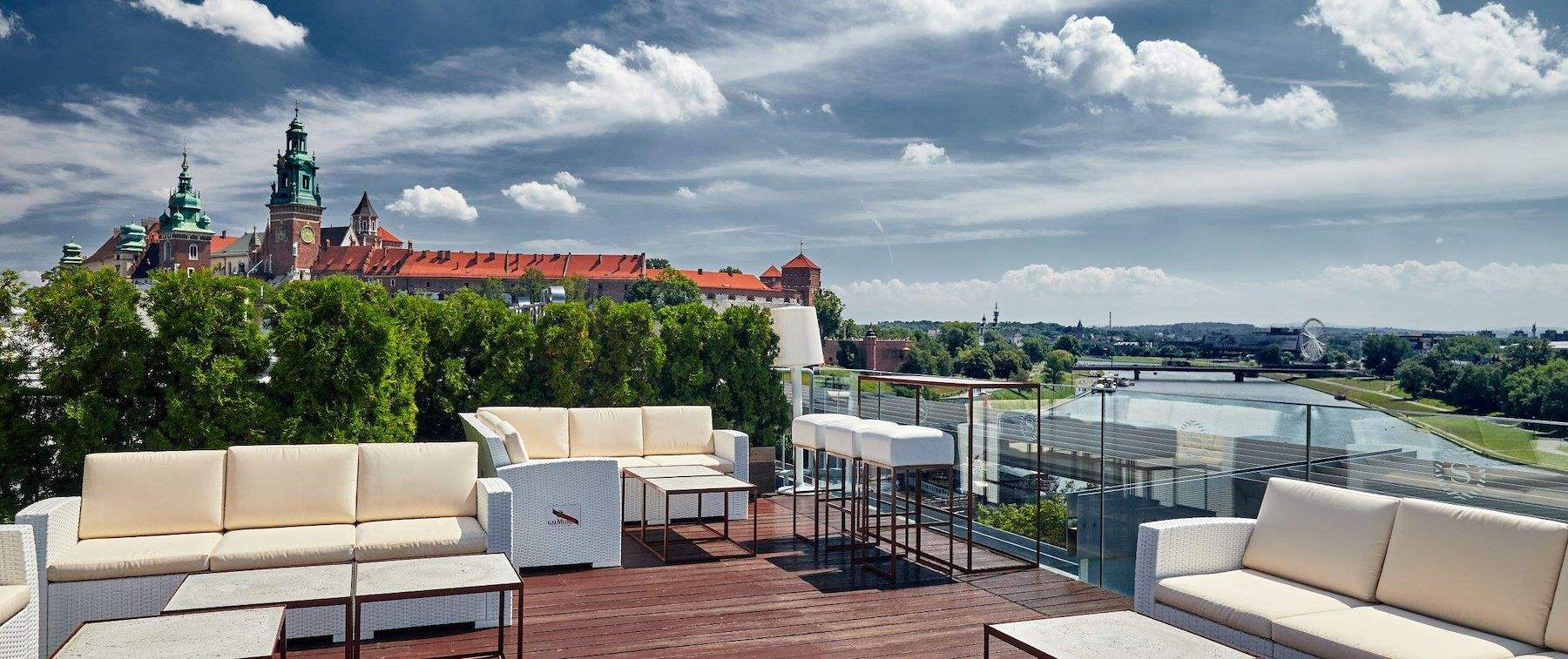 View of Wisla River from lounge area